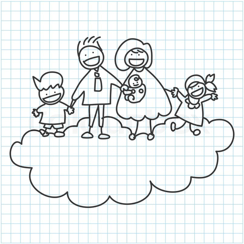 happy-family-on-graph-paper