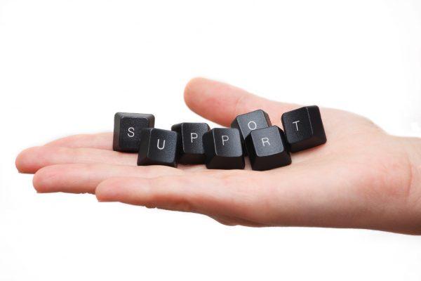 作業の継続を後押しするメールサポート